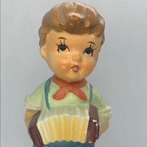 Vintage Porcelain - Little Boy With Accordian